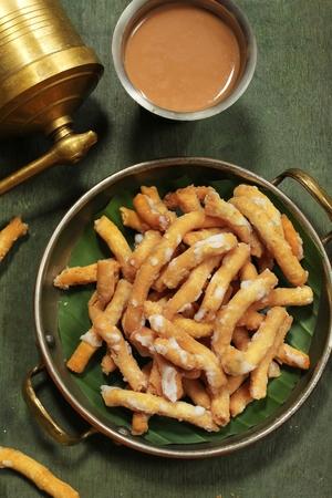 Madhura Seva  Chickpea flour sweet  Diwali Dasara snacks Banco de Imagens