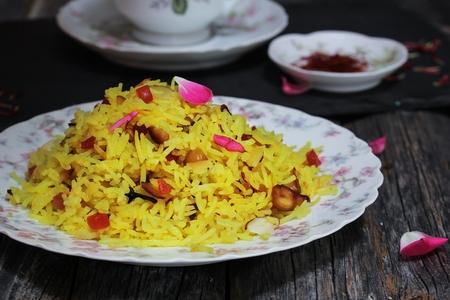 Indian sweet Saffron Rice  Zarda rice