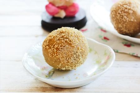 Churma Ladoo  laddu - Indian festival sweets, selective focus