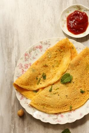 Chilla or Cheela  - Gluten free Chickpea flour pancake  Vegetarian Egg free Omelette