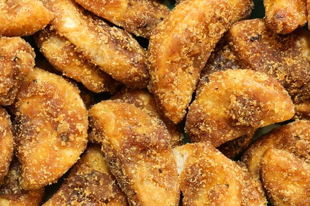 Sharkara Varetti - Jaggery coated  Plantain chips served during Kerala Onam feast