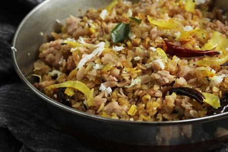 Brown Poha Upma / South Indian Breakfast