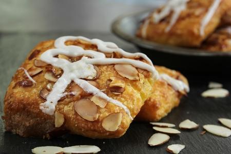 Almond Croissants, selective focus