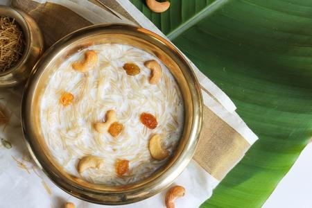 Semiya Payasam  Vermicelli Kheer - Kerala Onam Special Dessert, overhead view