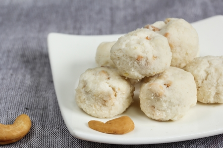 Cashew Cookies, selective focus
