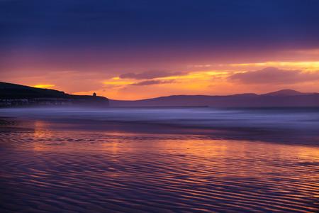 strand: Portstewart strand at dusk.