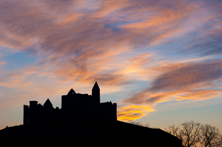 monastic site: Rock of Cashel, Medieval Cathedral Stock Photo