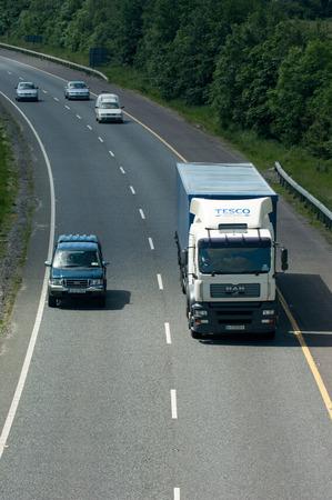 british isles: Naas, Ireland, June 11, 2005. Traffic on the N7 motorway