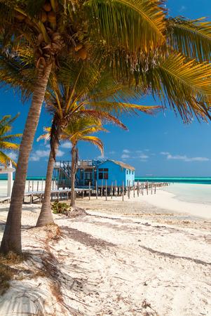 varadero: Varadero, Cuba, February 21, 2005. Beach hut in the beautiful Cuban resort of Varadero