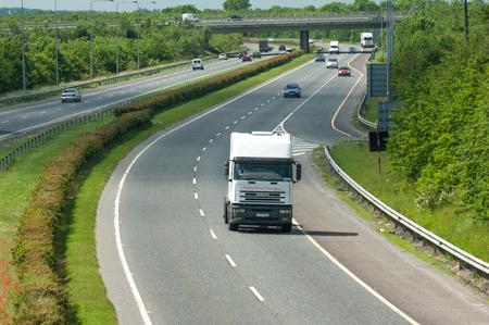 carriageway: Naas, Ireland, June 11, 2005. Traffic on the N7 motorway