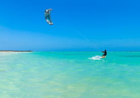varadero: Kite sufer on Varadero, Vuba Stock Photo