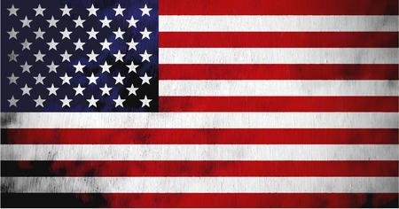 Grungy Textured USA Flag Çizim
