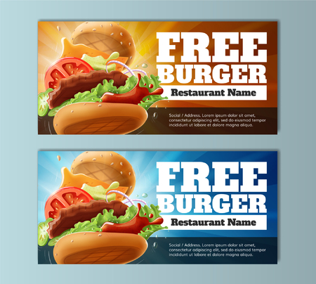 Free Burger Voucher Template Vector