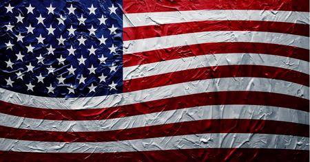 Grungy USA Flag (Paint Texture) Çizim