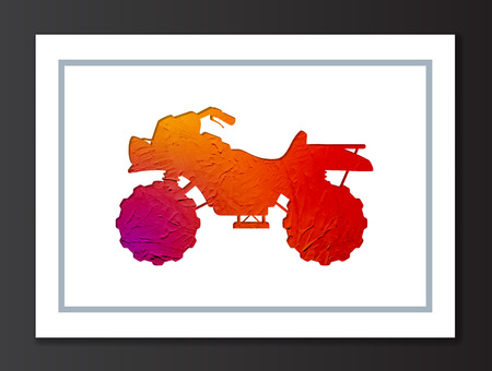 Quad Sport Bike Painted Silhouette