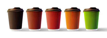 Coffee Ripple Cups Isolated Vector