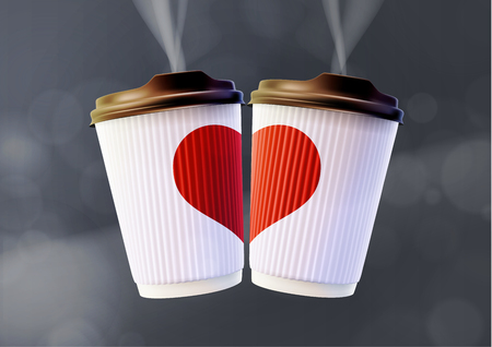 Coffee to Go Valentine's Day Concept Vector