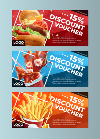 Fast Food Discount Voucher Templates