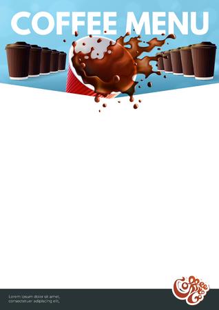 Coffee to Go Menu Poster A4