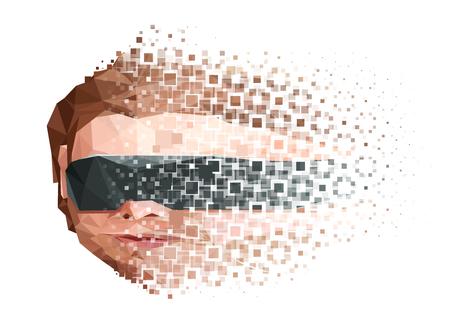 Artificial Mind Decay Concept. Vector EPS10