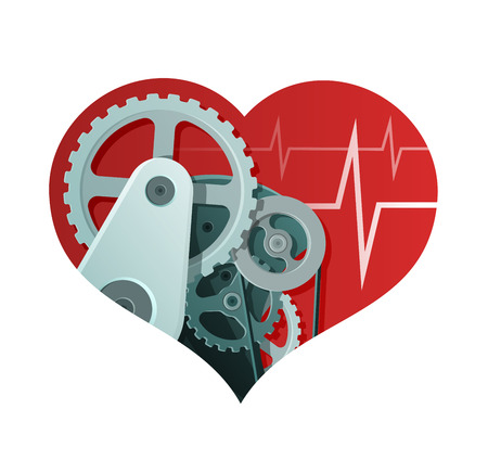 Heart Health Abstract Illustration. A Heart-shaped Mechanism