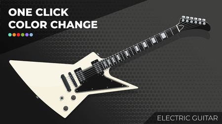 Electric Guitar. Isolated and Layered Object, Easy Color Change. Vector EPS10 矢量图像