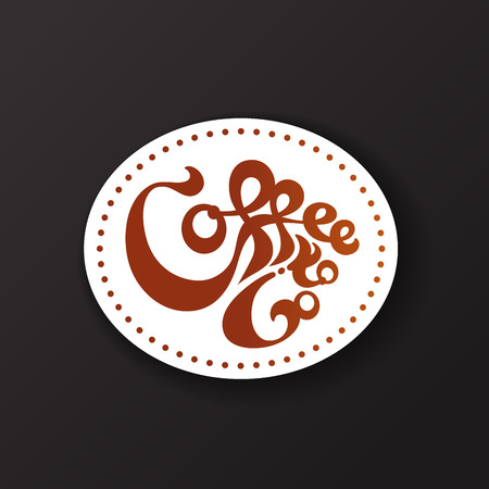 Coffee to Go Sticker Concept. Vector Illustration 矢量图像