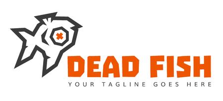Dead Fish Studio low poly logo version 2. 2 Colors.