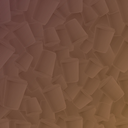 Coffee ripple cups brown gradient background. Vector EPS10