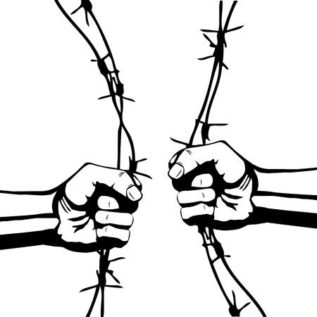 Fist en prikkeldraad