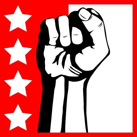 rebeldia: Puño - protesta Vectores