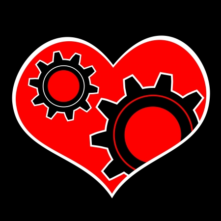 Heart and gear Stock Vector - 14777183