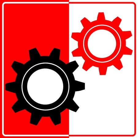 Vector gear and cogwheel Vector