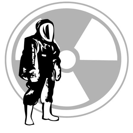Level A Hazardous Material  Иллюстрация