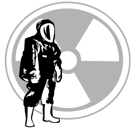 hazardous material: Level A Hazardous Material  Illustration