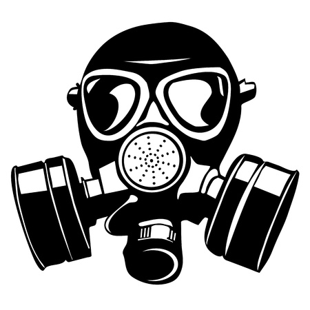 army helmet: Gas mask Illustration