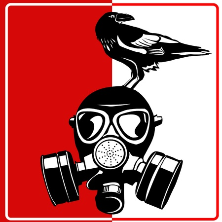 Gasmasker - industriële bio gevaar Stockfoto - 14777195