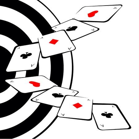 Poker grunge background  Illustration