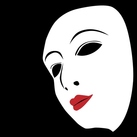 Wit masker op een zwarte