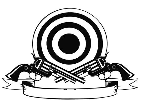 Pistolen en doel Stock Illustratie