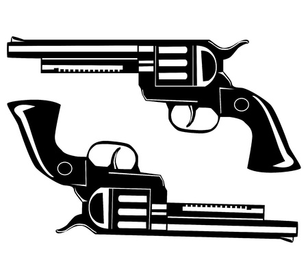 Two pistols Stock Vector - 14777147