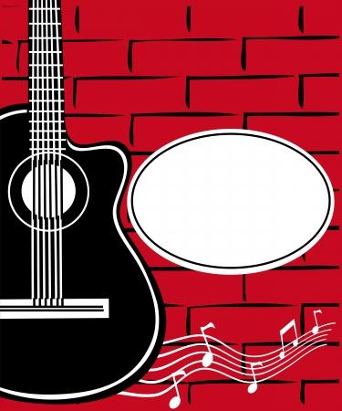 Guitar and a brick wall