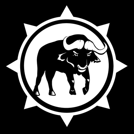 Tribal Bull - Vector bison Vector