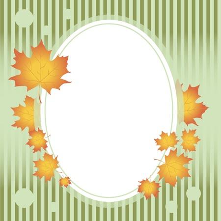 Autumn frame  Stock Vector - 15207002