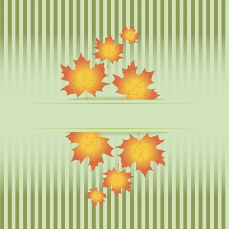 Colorful fall frame with leaves  Vector