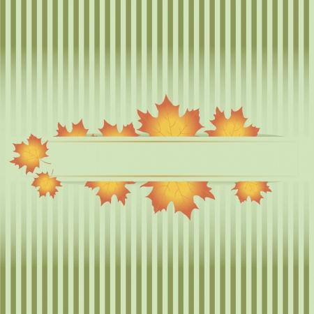 Autumn leaves. Vector seasonal background  Stock Vector - 15207007