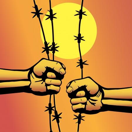 revolt: Protest fist. Victory, revolt concept.