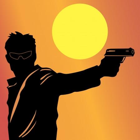 gangster with gun: Dispara al hombre de la pistola