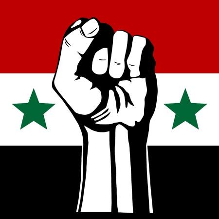 The Syrian flag  Revolution Stock Illustratie