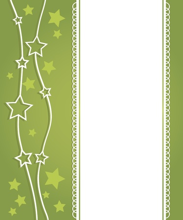 Abstract green background with the stars Vector